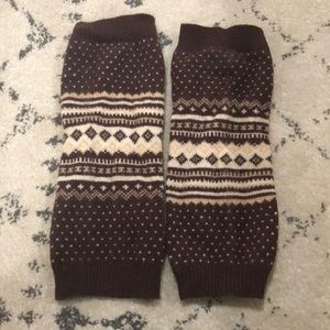 Gap Scandinavian pattern leg warmers